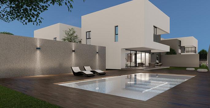 Promoción viviendas unifamiliares de lujo