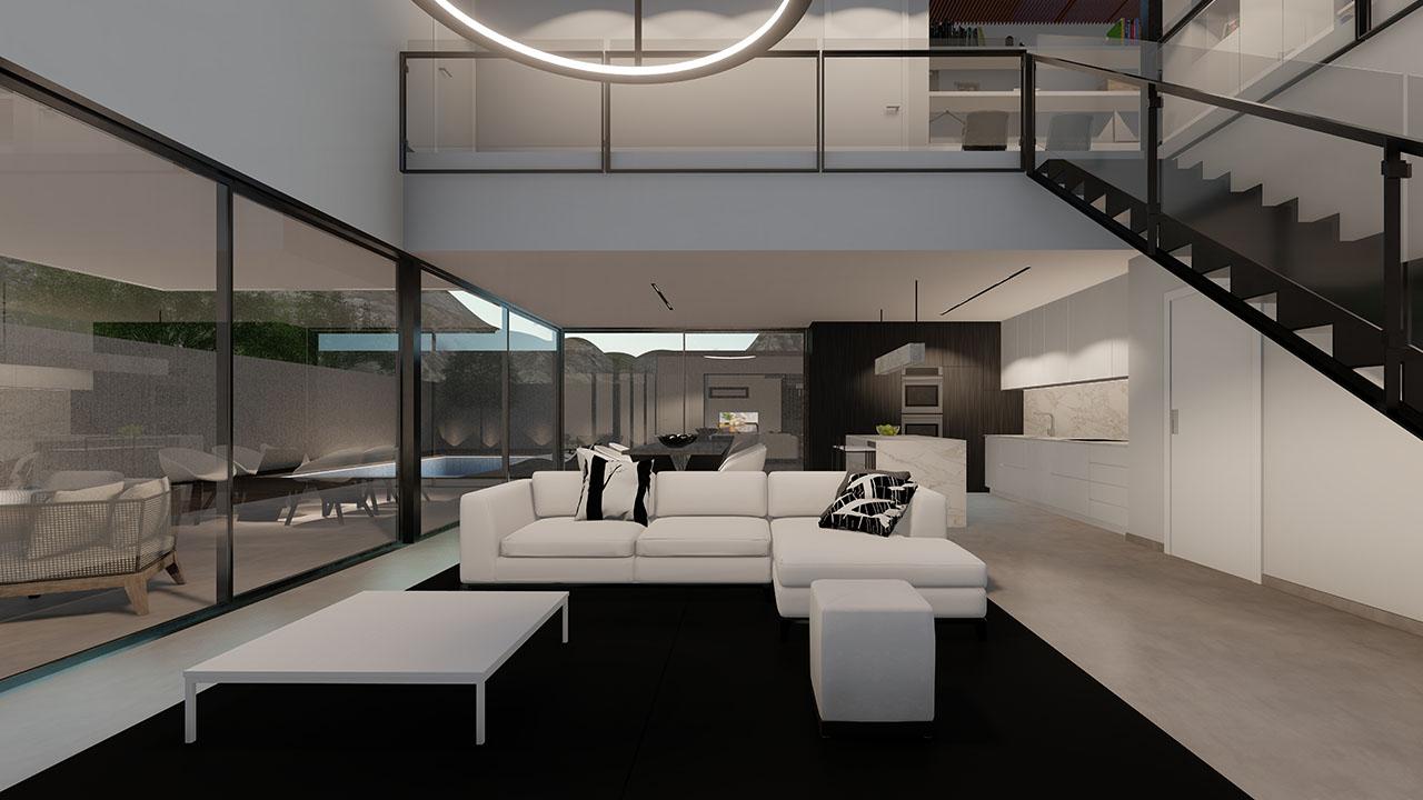 Salón interior de la vivienda