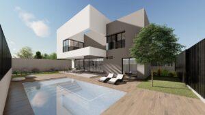 Exterior Fachada y piscina